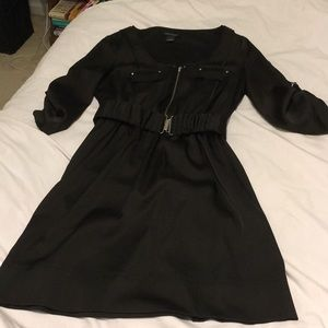 WHBM Black belted dress